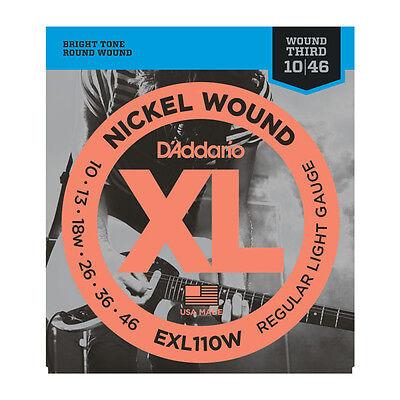 D'Addario EXL110W Nickel Wound, Regular Light Gauge, Wound 3rd, 10/46