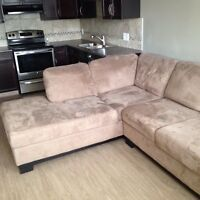 Suede Sectional Couch For Sale