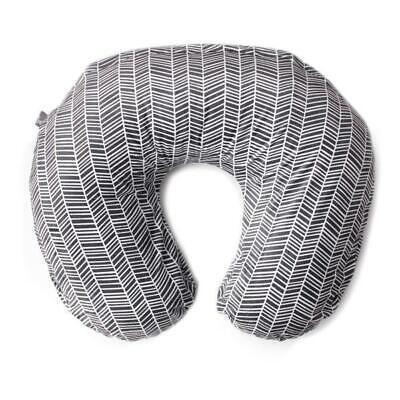 Kids N Such Nursing Pillow Cover Gray White Herringbone Print-Boppy slipcover