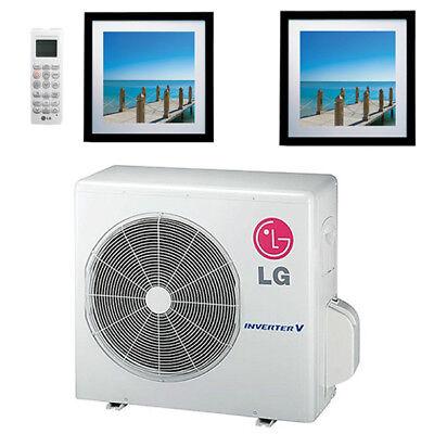 24k BTU 21.7 SEER LG Art Cool Gallery Ductless Heat Pump Split System - 2 Zone W