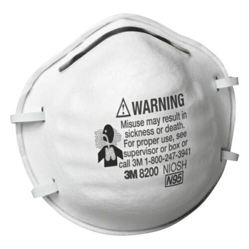 3M 8200 N95 Protective Disposable Face Mask Cover NIOSH Respirator 20 PCS  NEW