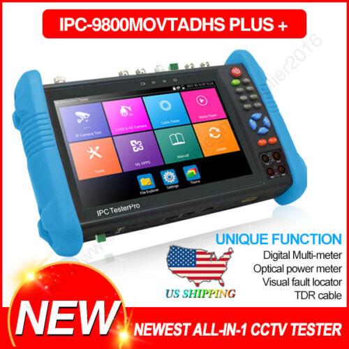 "IPC-9800MOVTADHS+ 7""CCTV AHD CVI TVI SDI IP Camera Tester 4K DMM TDR VFL US Ship"