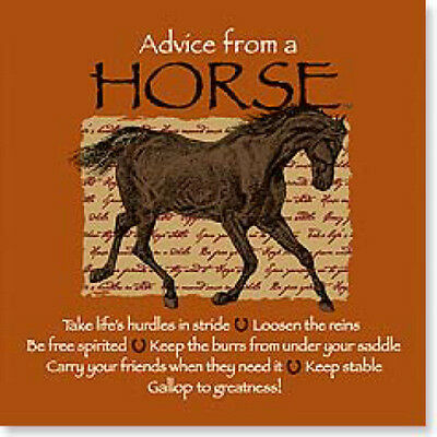 "LEANIN TREE ""Advice From A Horse"" #26338 Magnet ~ Keep Stable*Loosen The Reins"