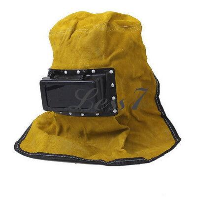 Comfortable Cow Leather Welder Welding Work Hood Helmet Face Protector