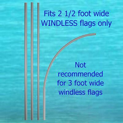 14 Tall Windless Feather Flag Pole Only No Mount Advertising Flutter Banner