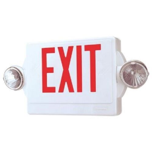 Lithonia Lighting 2-Light Thermoplastic LED Emergency Exit Sign/Fixture Combo