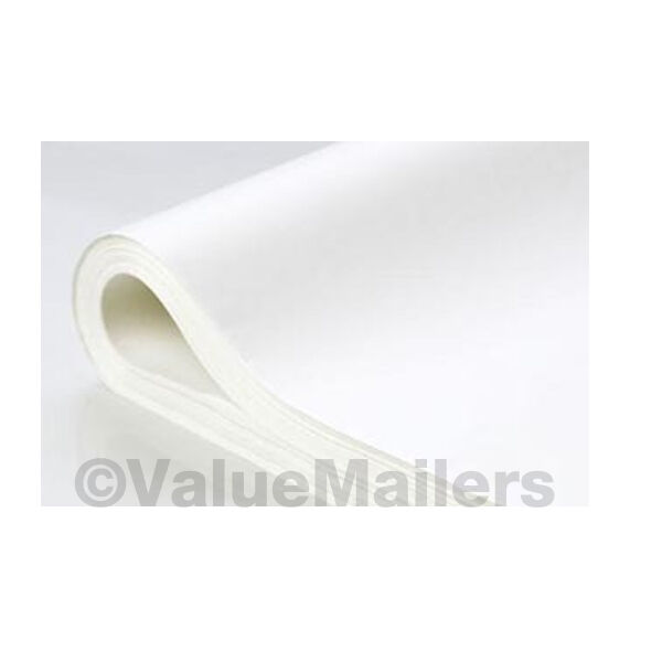 "TISSUE PAPER 20"" x 30"" ~ WHITE~ 2400 Quality Large Sheets ~ 5 REAMS"