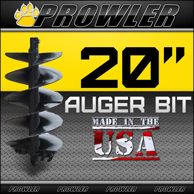 20 Auger Bit W Round Collar For Skid Steer Loaders 4 Length - 20 Inch
