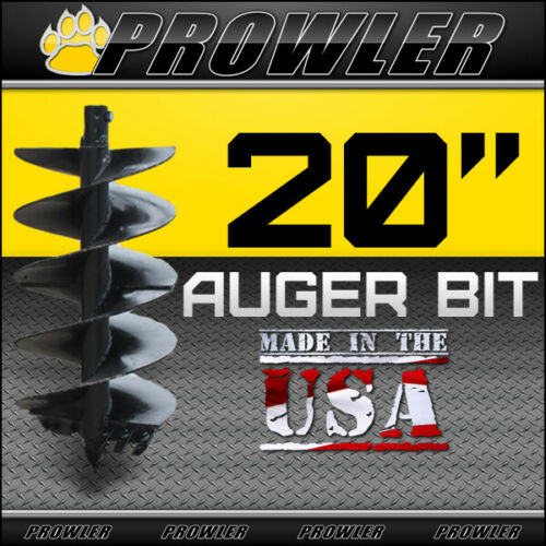 "20"" Auger Bit w/ Round Collar For Skid Steer Loaders 4"