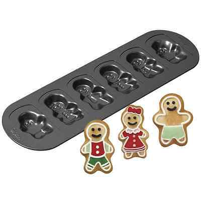 6-cavity Gingerbread Family Cookie Pan Gingerbread Cookie Pan