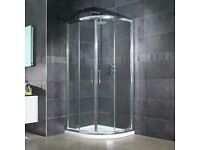 800 Quad shower tray and enclosure