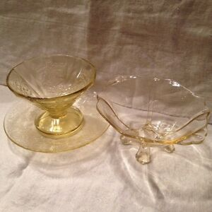 Depression Glass (yellow) Cambridge Kitchener Area image 1