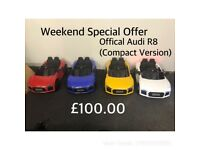Black Friday Offer Audi R8 12v Electric Ride-On Cars, Parental Remote, Self Drive (Compact)
