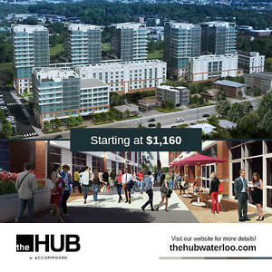 The Hub- Now Offering One Bedroom Suites for September 2017 Kitchener / Waterloo Kitchener Area image 1