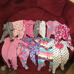 0-3 month girls clothing lot