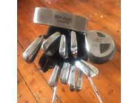 Golf clubs- irons set in bag for sale