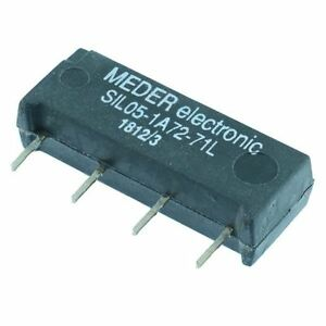 5VDC Normally Open Reed Relay SPST SIL05-1A72-71L