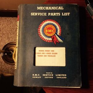 MORRIS MINOR FACTORY SERVICE PARTS MANUAL Kingston Kingston Area image 1