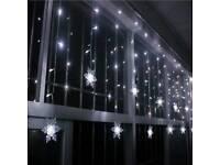 Indoor Christmas snowflake lights