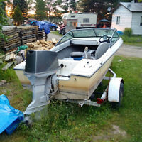 Grew SS147 Ski Boat For Sale with motor and trailer