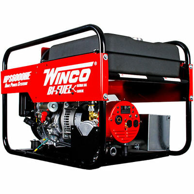 Winco Hps6000he - 5500 Watt Dual Fuel Generator W Electric Start Honda Engine