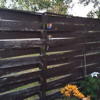 Will pay to get fence removed and disposed of.