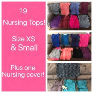 19 nursing tops!!!