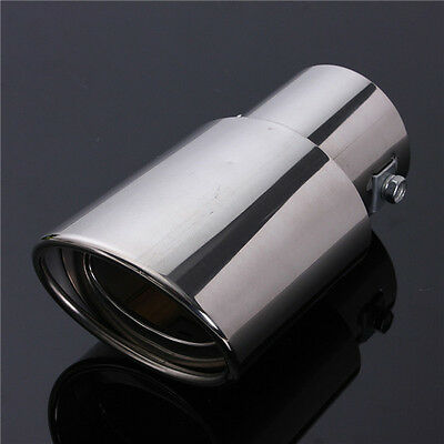 Universal Car Stainless Steel Chrome Fits EXHAUST Tail Muffler Tip Pipe Car New