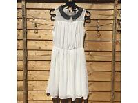 White summer dress from Zara size XS / 8