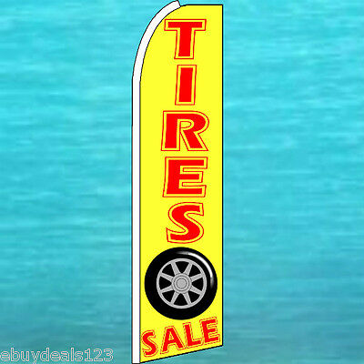Tires Sale Flutter Feather Flag Vertical Advertising Sign Bow Banner Swooper
