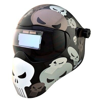 New Save Phace Efp-f Series Welding Helmet Marvel Punisher 180 410 Adf Lens
