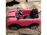 Pink mini toy car