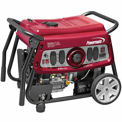 Powermate Df7500e - 7500 Watt Electric Start Dual Fuel Portable Generator 49...