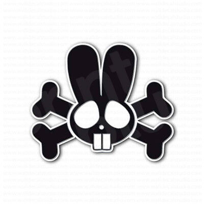 Used, Rabbit Skull Head Cossbones Sticker for sale  USA