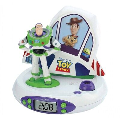 Lexibook Toy Story Buzz Lightyear Projector Alarm Kids LCD Clock with Radio