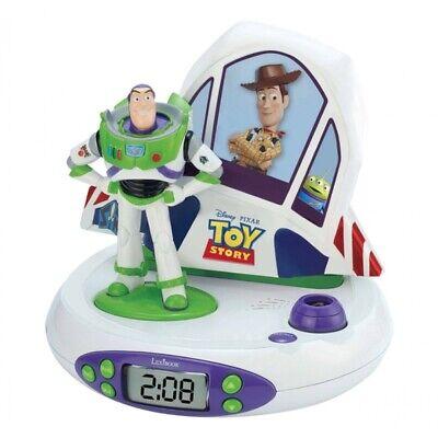 Lexibook Toy Story Buzz Lightyear Projector Alarm Kids LCD Clock with Radio