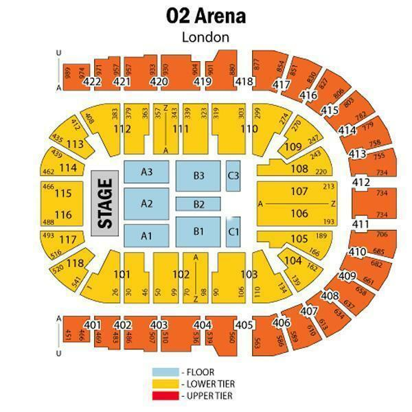 Mariah carey floor seating tickets to london o2 for 02 floor seating