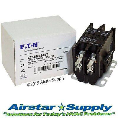 C25bnb240t Eaton Cutler Hammer Contactor - 40 Amp 2 Pole 24v Coil