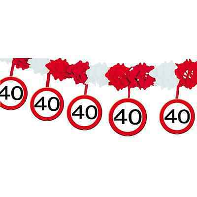 Party Girlande zum 40. Geburtstag aus Papier 4m lang