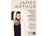 James Arthur x 2 manchester Ritz Thursday 22nd December 07966637628