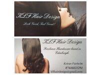 Freelance hairdresser based in and around Edinburgh!