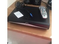Sky box record pause tv power cable and remote