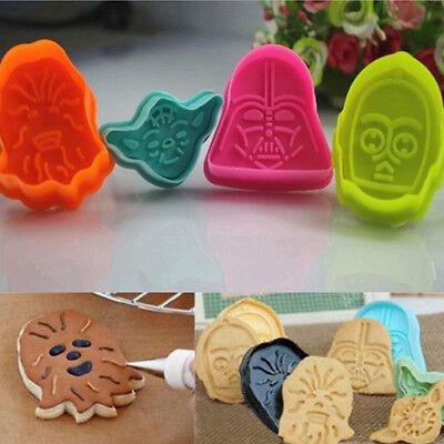 4pz star wars silicone Stampo cutter muffa cioccolato cookies Sugarcraft Torta