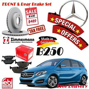 Special Offer Mercedes Benz B250 Brake Sets (Rotor/Pad/Sensor) Cambridge Kitchener Area image 1