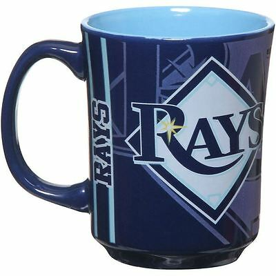 Rays Mug - Tampa Bay Rays Mug Reflective Coffee Cup 11oz MLB Navy