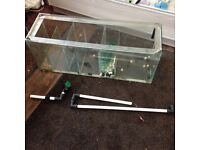 Fish tank sump tank with bits etc