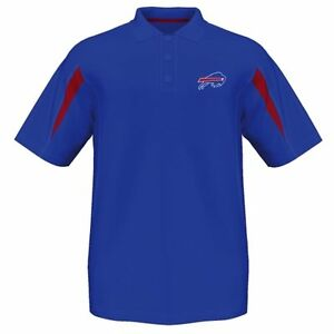 Buffalo bills embroidered blue dri fit polo golf shirt ebay for Buffalo bills polo shirts