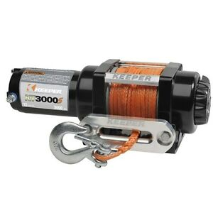 Electric Winch, 3000 lb. Capacity 12 Volt, SyntheticRope KT3000S