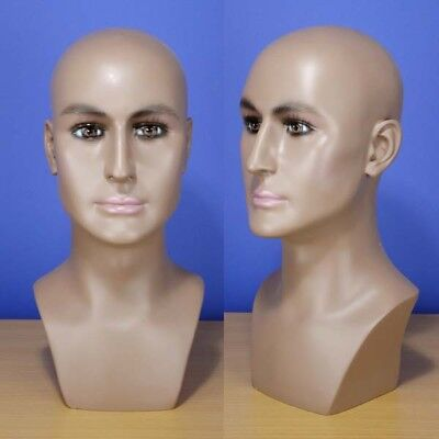 Brand New 16 Brown-black Male Head Mannequin 202b