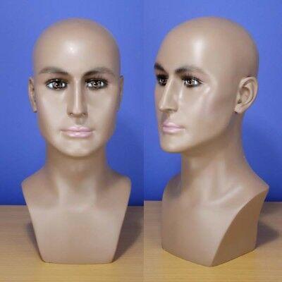 Brand New 16 Brown-black Male Head Mannequin 202b